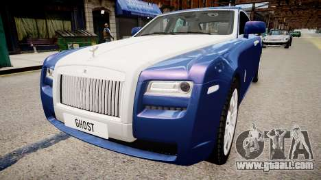 Rolls-Royce Ghost 2013 for GTA 4 back left view