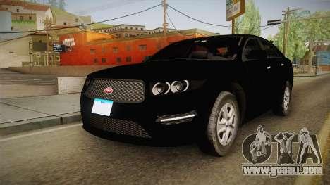 Vapid Interceptor 2013 Unmarked for GTA San Andreas