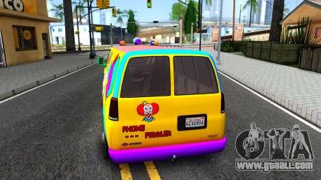 GTA V Vapid Clown Van for GTA San Andreas back left view