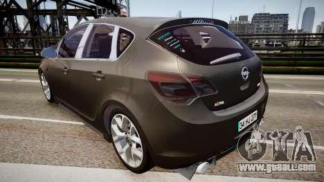 Opel Astra Senner for GTA 4 back left view