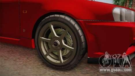 Nissan Skyline Tunable Pro Street v2 for GTA San Andreas back view