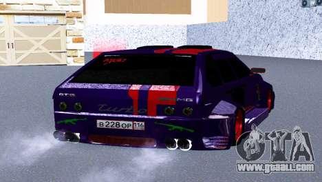 ВАЗ 2114 GTR SPORTS SLS for GTA San Andreas back left view