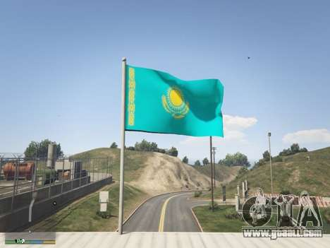 GTA 5 The Flag Of Kazakhstan