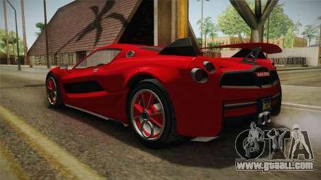 GTA 5 Progen Anubis for GTA San Andreas left view