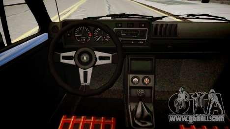 Volkswagen Golf GTI MK1 for GTA 4 inner view