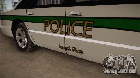 Declasse Premier 1993 Angel Pine Police for GTA San Andreas back view