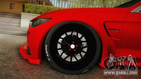 BMW M4 Liberty Walk for GTA San Andreas back left view