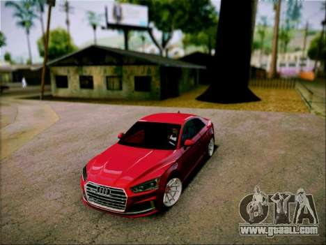 Audi S5 2017 for GTA San Andreas back left view