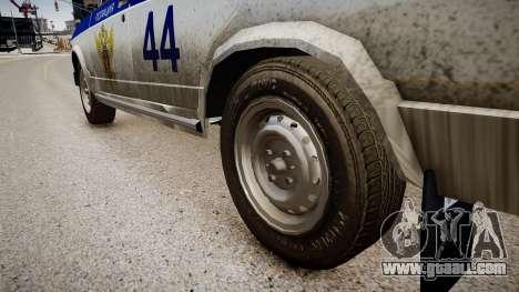 VAZ 2105 Police for GTA 4 back view