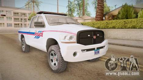 Dodge Ram 2008 Union Pacific Railroad PD for GTA San Andreas