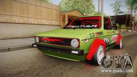 Volkswagen Golf Mk1 GTI 16v ITB v1.0 for GTA San Andreas