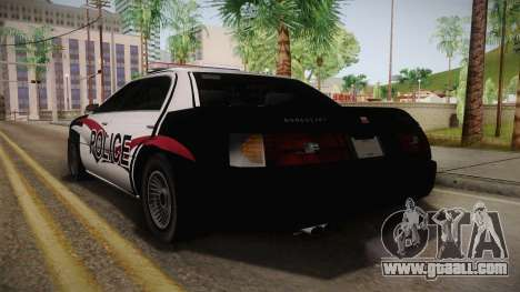 Dundreary Admiral Police 2009 for GTA San Andreas left view