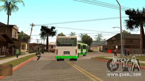 Trailer for LiAZ 6212 for GTA San Andreas back left view