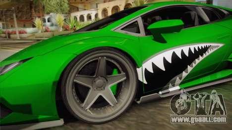 Lamborghini Huracan Liberty Walk for GTA San Andreas back left view