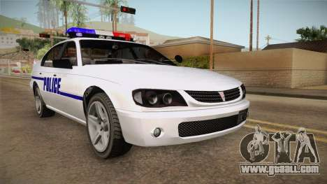 Declasse Merit 2005 Dillimore Police Department for GTA San Andreas