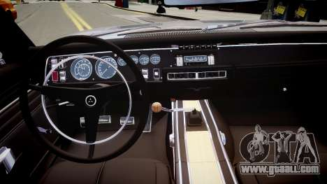 Dodge Charger RT 1969 for GTA 4 inner view
