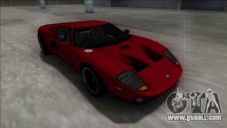 2005 Ford GT for GTA San Andreas inner view