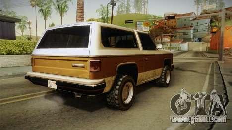 Chevrolet Blazer K5 Rancher Style for GTA San Andreas