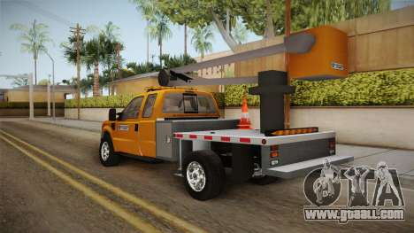 Ford F-350 2008 Cherry Picker for GTA San Andreas back left view