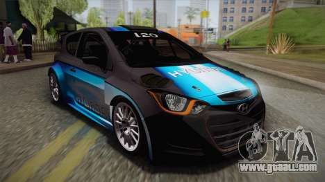 Hyundai i20 WRC 2013 for GTA San Andreas upper view