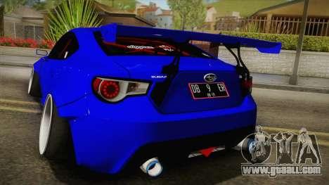 Subaru BRZ 2013 Rocket Bunny Slammed for GTA San Andreas back view