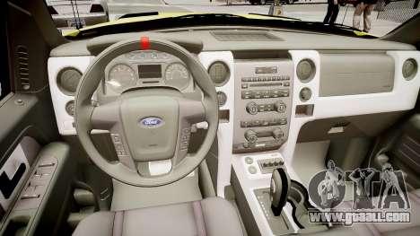Ford Raptor SVT Department Lifeguard for GTA 4 inner view