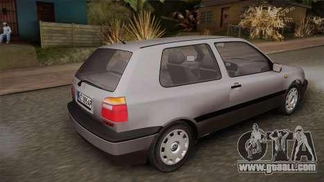 Volkswagen Golf Mk3 Stock for GTA San Andreas left view