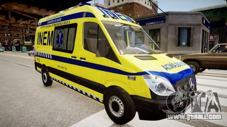INEM Ambulance for GTA 4 right view