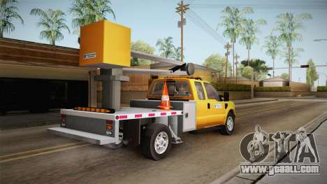 Ford F-350 2008 Cherry Picker for GTA San Andreas left view
