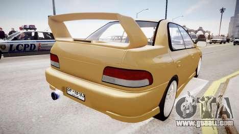 Subaru Impreza GC8 JDM Spec for GTA 4 back left view