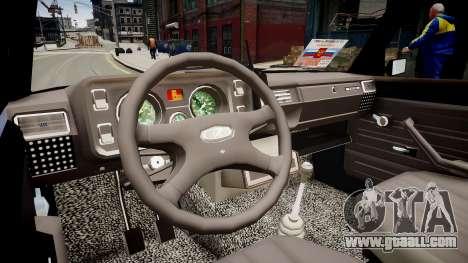 VAZ 2105 Police for GTA 4 inner view