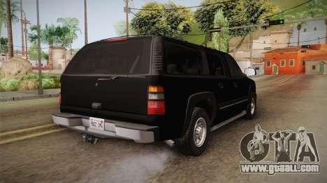 Chevrolet Suburban Z71 FBI for GTA San Andreas right view