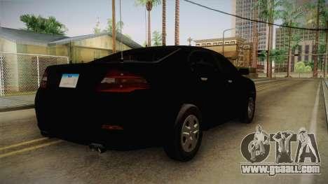 Vapid Interceptor 2013 Unmarked for GTA San Andreas back left view