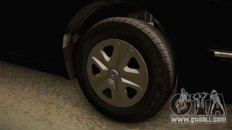 Vapid Interceptor 2013 Unmarked for GTA San Andreas back view