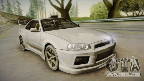Nissan Skyline Tunable Pro Street for GTA San Andreas side view