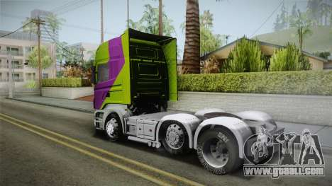 Scania R620 Malaysia Airlines for GTA San Andreas left view