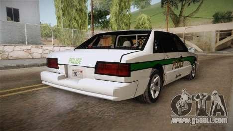 Declasse Premier 1993 Angel Pine Police for GTA San Andreas back left view