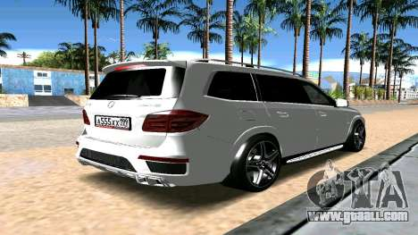 Mercedes-Benz GL63 AMG for GTA San Andreas back left view