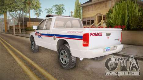 Dodge Ram 2008 Union Pacific Railroad PD for GTA San Andreas left view