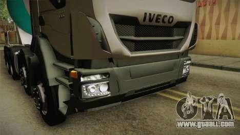 Iveco Trakker Hi-Land Cement Mixer 8x4 v3.0 for GTA San Andreas side view