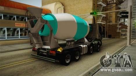 Iveco Trakker Hi-Land Cement Mixer 8x4 v3.0 for GTA San Andreas back left view