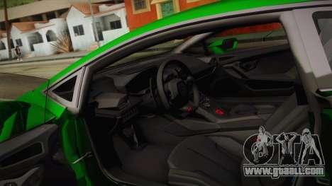 Lamborghini Huracan Liberty Walk for GTA San Andreas inner view