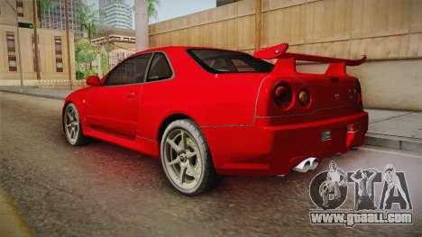 Nissan Skyline Tunable Pro Street v2 for GTA San Andreas left view