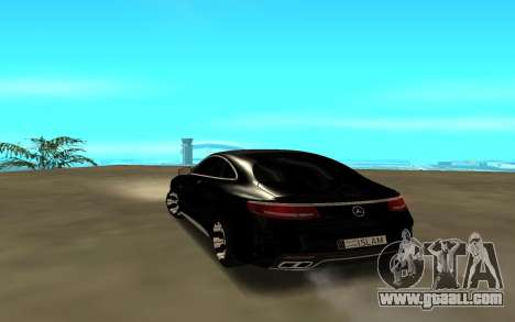 Mercedes-Benz C-Class Coupe 2016 for GTA San Andreas back left view