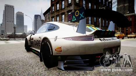 Porsche 911 GT3 Project CARS for GTA 4 left view