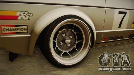Volkswagen Golf Mk1 GTI for GTA San Andreas back view