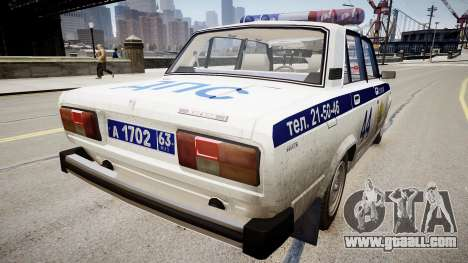 VAZ 2105 Police for GTA 4 back left view