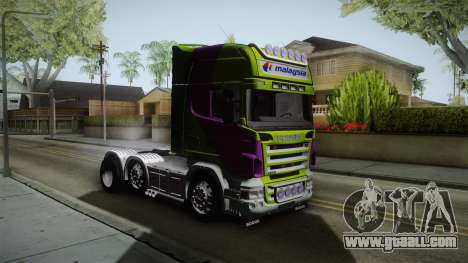 Scania R620 Malaysia Airlines for GTA San Andreas right view
