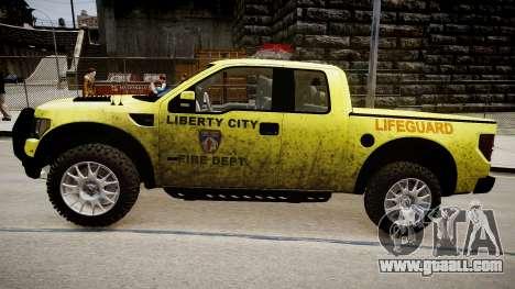 Ford Raptor SVT Department Lifeguard for GTA 4 back left view