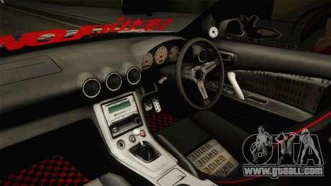 Nissan Silvia S15 Rocket Bunny Itasha for GTA San Andreas inner view